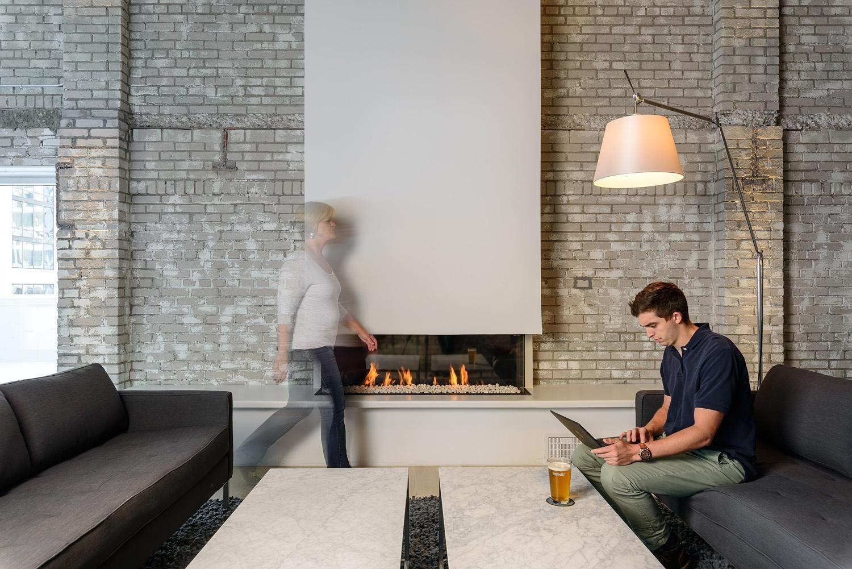 Linear Fireplace Element 4