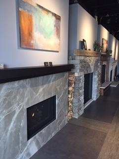 quartzite fireplace surround