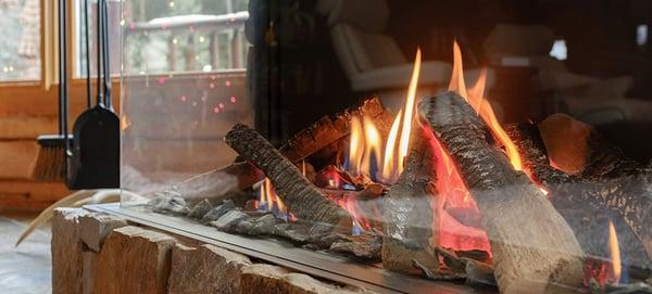 Gas Fireplace Closeup