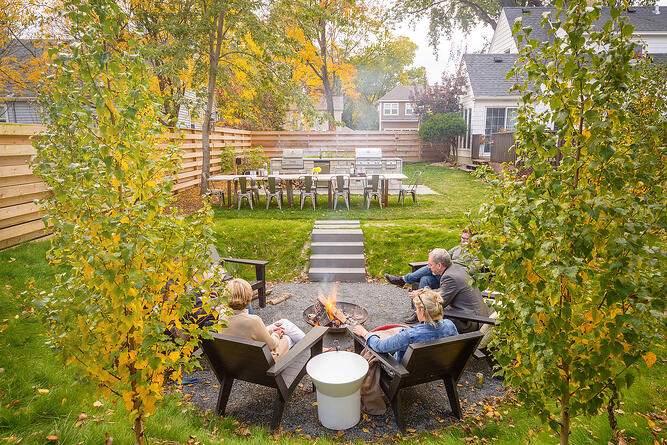 Outdoor Kitchen and Fire Pit