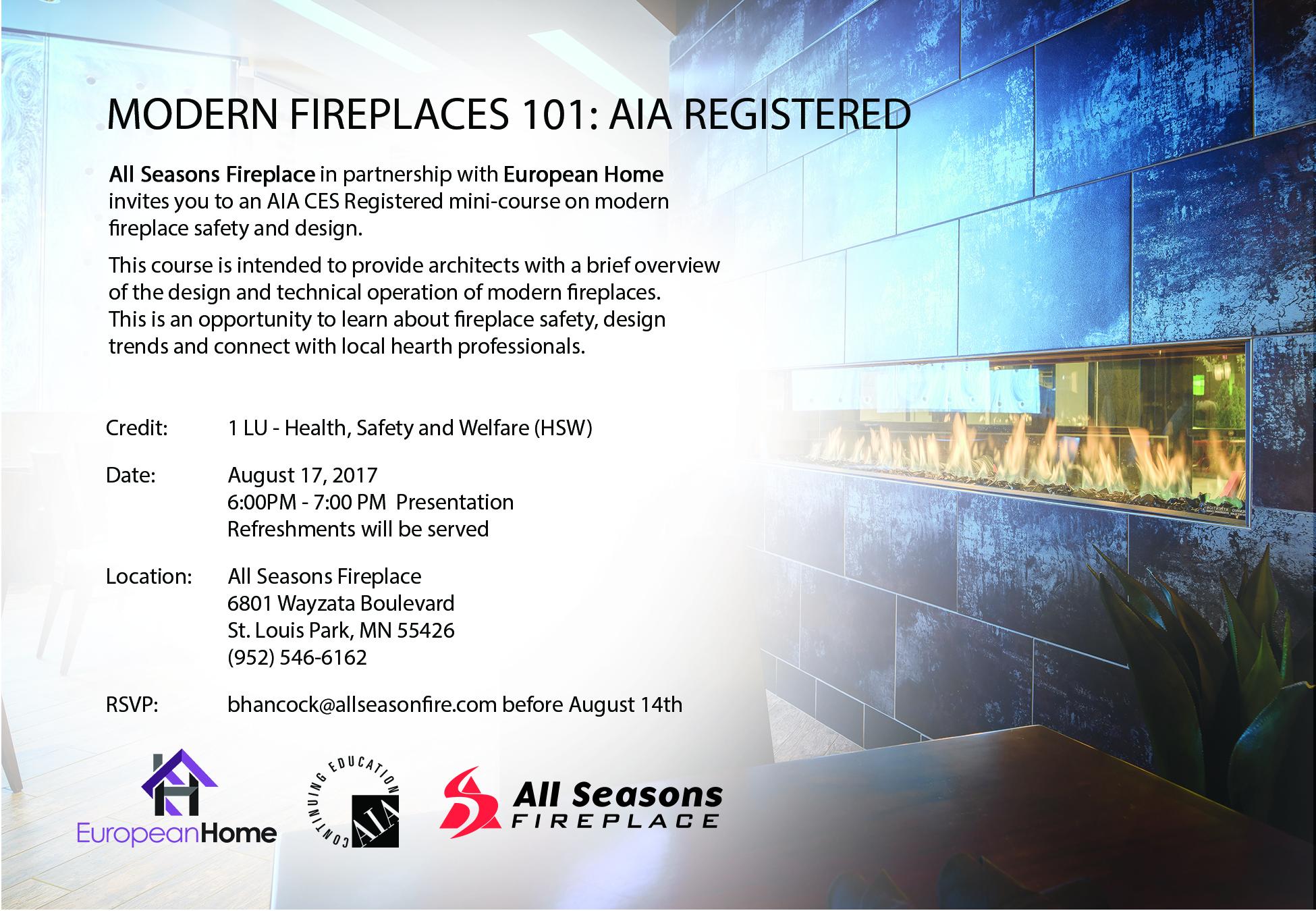 Fireplace Design Seminar at All Seasons Fireplace