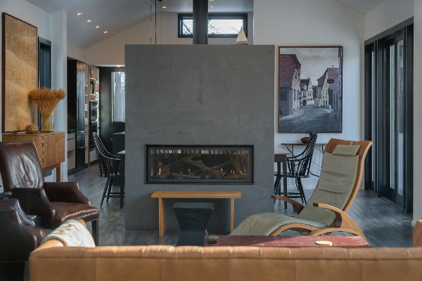 See Through Two Sided Fireplace