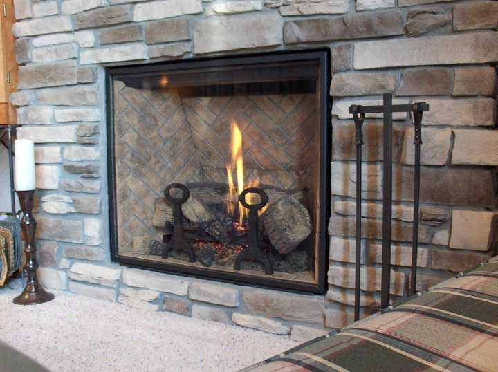 Glass Doors Fireplace. Pleasant Hearth Cahill Large Glass ...