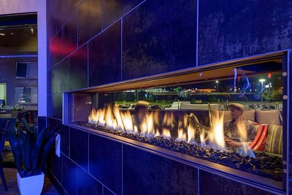 Kona Grill Linear Fireplace